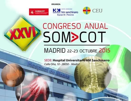 (actualización) 26 Congreso Somacot – 22 y 23 de octubre 2015. Hospital HM Sanchinarro. Madrid